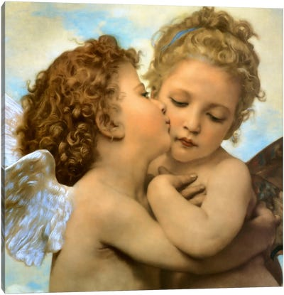 Bouguereau, Angels and cupids Canvas Art Print