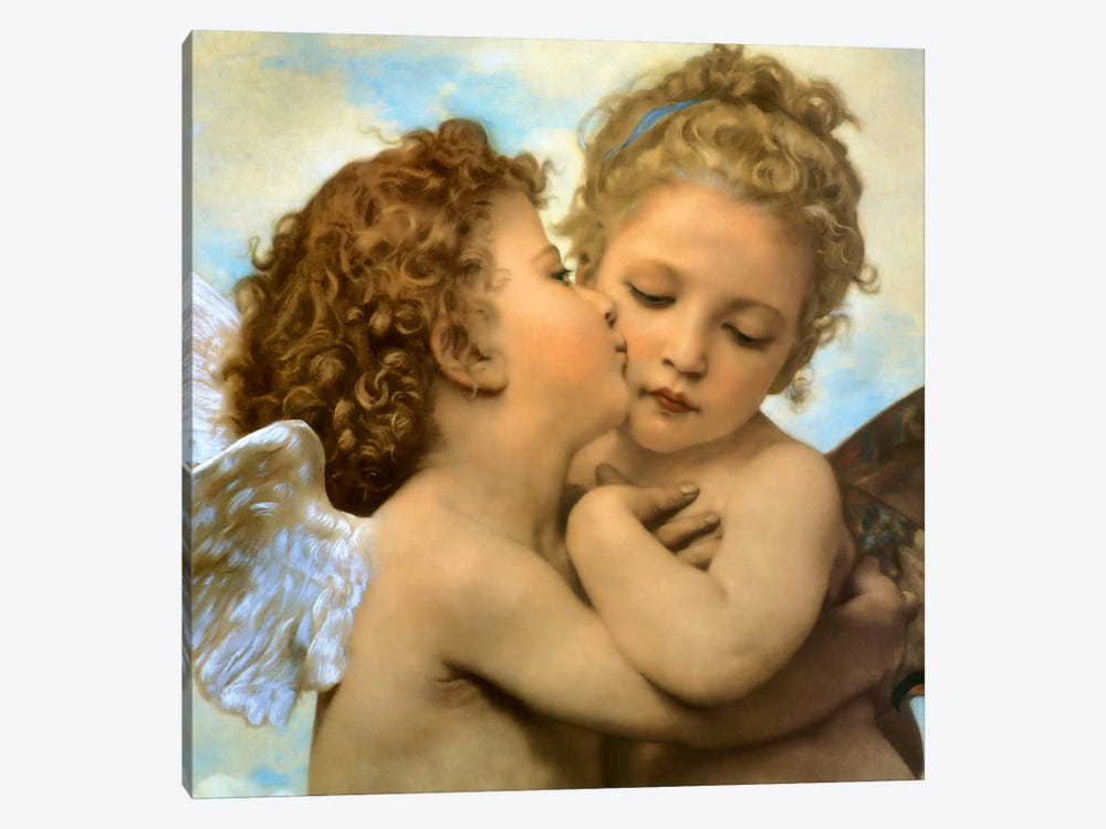Bouguereau, Angels and cupids by Vintage Apple Collection 1-piece Canvas Wall Art