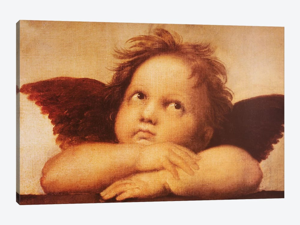 Classic Cherub One by Vintage Apple Collection 1-piece Canvas Print