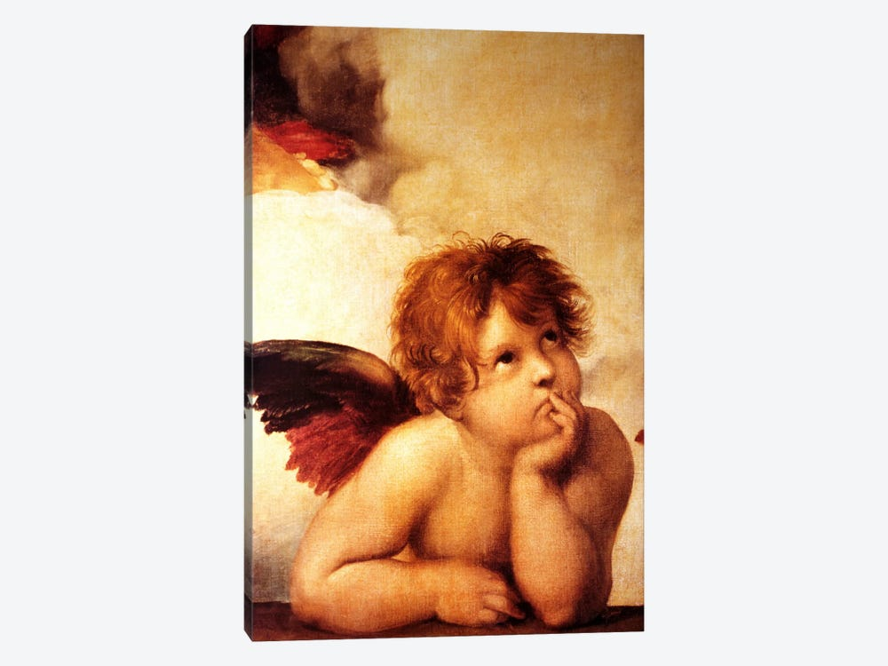 Classic Cherub Two by Vintage Apple Collection 1-piece Canvas Wall Art