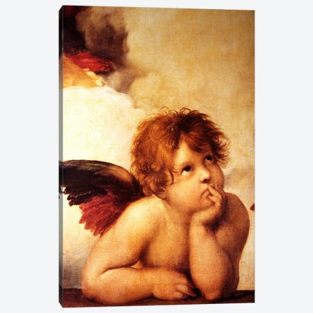 Classic Cherub Two Canvas Print #VAC272} by Vintage Apple Collection Canvas Artwork