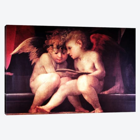 Two Redhead Cherubs Canvas Print #VAC277} by Vintage Apple Collection Art Print