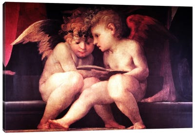 Two Redhead Cherubs Canvas Print #VAC277