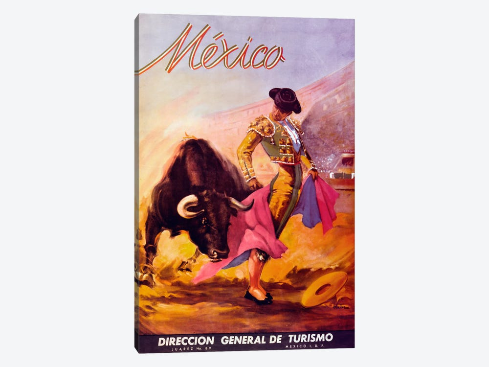Turismo Mexico I by Vintage Apple Collection 1-piece Canvas Artwork