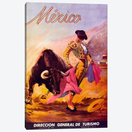 Turismo Mexico I Canvas Print #VAC34} by Vintage Apple Collection Canvas Art Print