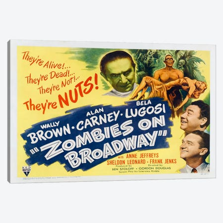 Zombies on Broadway Canvas Print #VAC36} by Vintage Apple Collection Canvas Print