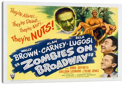 Zombies on Broadway Canvas Art Print