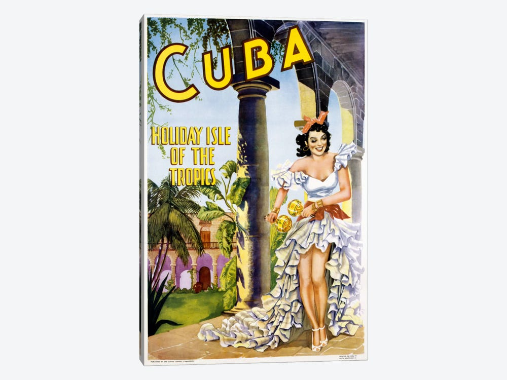 Cuba by Vintage Apple Collection 1-piece Art Print