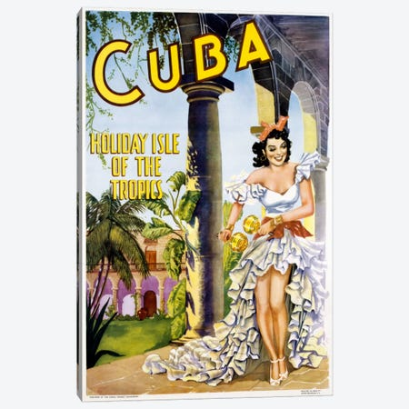 Cuba Canvas Print #VAC37} by Vintage Apple Collection Canvas Print