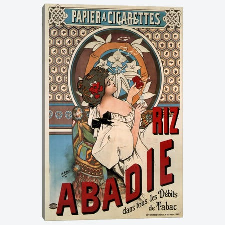 Abadie Rolling Papers Advertisement Canvas Print #VAC403} by Vintage Apple Collection Art Print