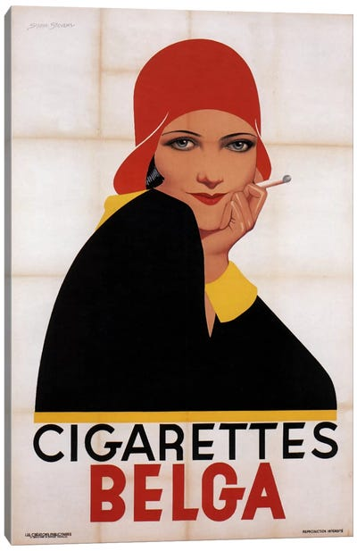 Cigarettes Belga Redhat Canvas Print #VAC423