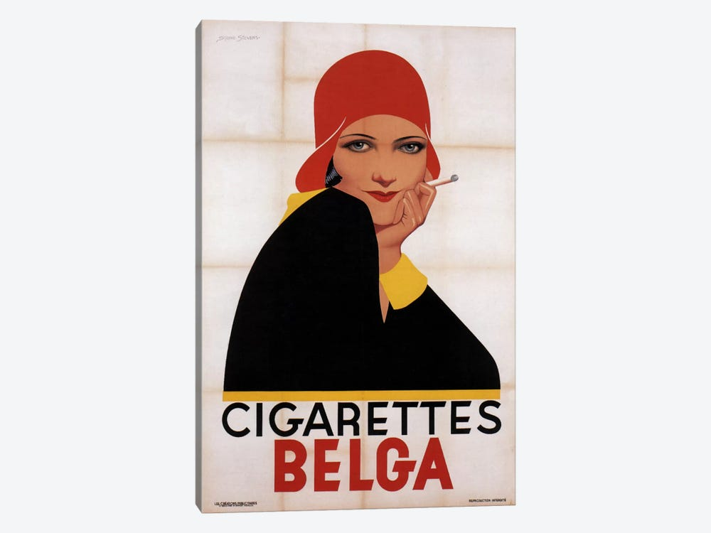 Cigarettes Belga Redhat by Vintage Apple Collection 1-piece Canvas Artwork