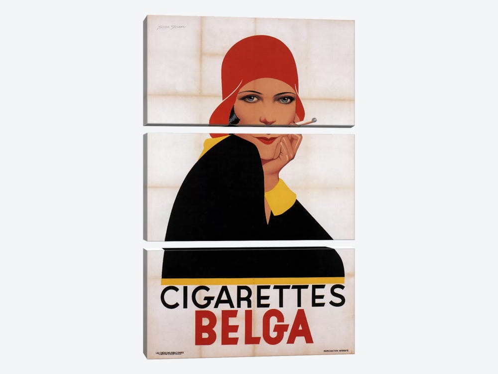 Cigarettes Belga Redhat 3-piece Canvas Art