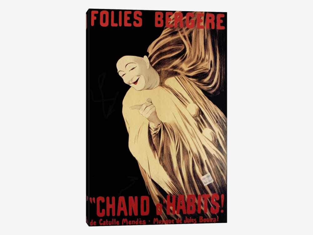 Folies Bergere Chand D Habits by Vintage Apple Collection 1-piece Canvas Art Print