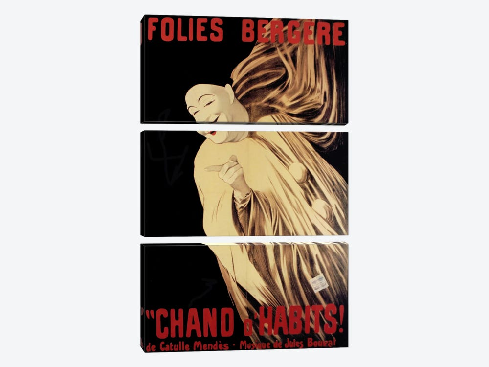 Folies Bergere Chand D Habits by Vintage Apple Collection 3-piece Art Print