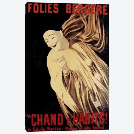 Folies Bergere Chand D Habits 3-Piece Canvas #VAC435} by Vintage Apple Collection Canvas Print
