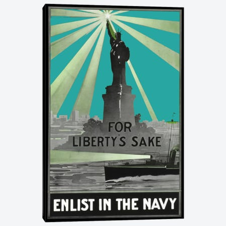 For Libertys Sake Canvas Print #VAC437} by Vintage Apple Collection Art Print