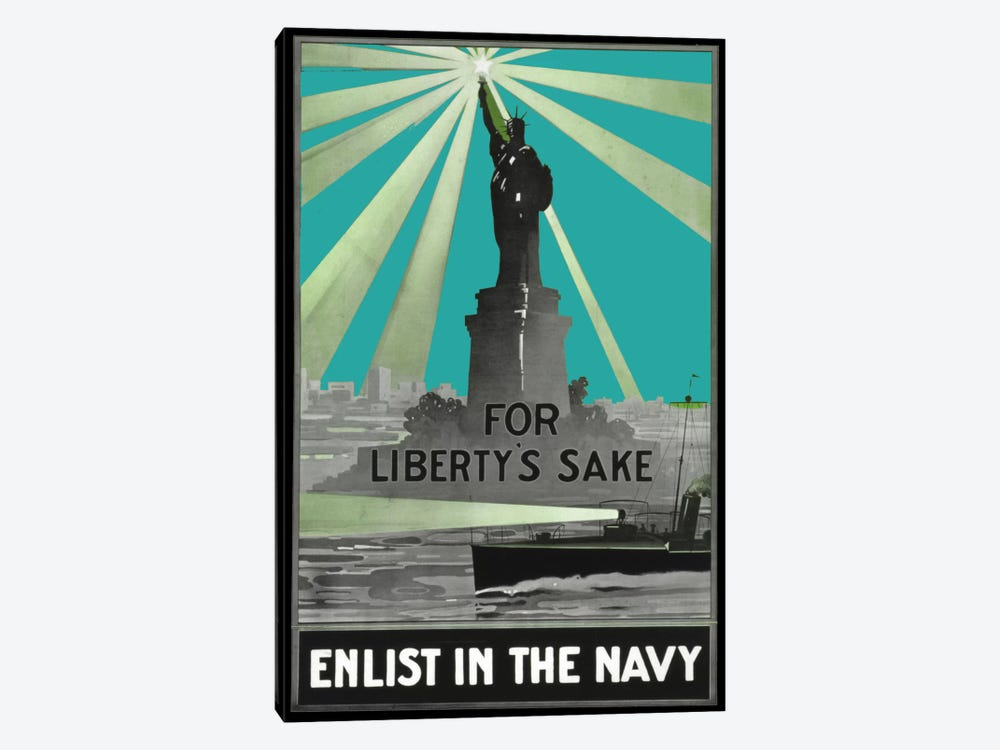 For Libertys Sake by Vintage Apple Collection 1-piece Canvas Print