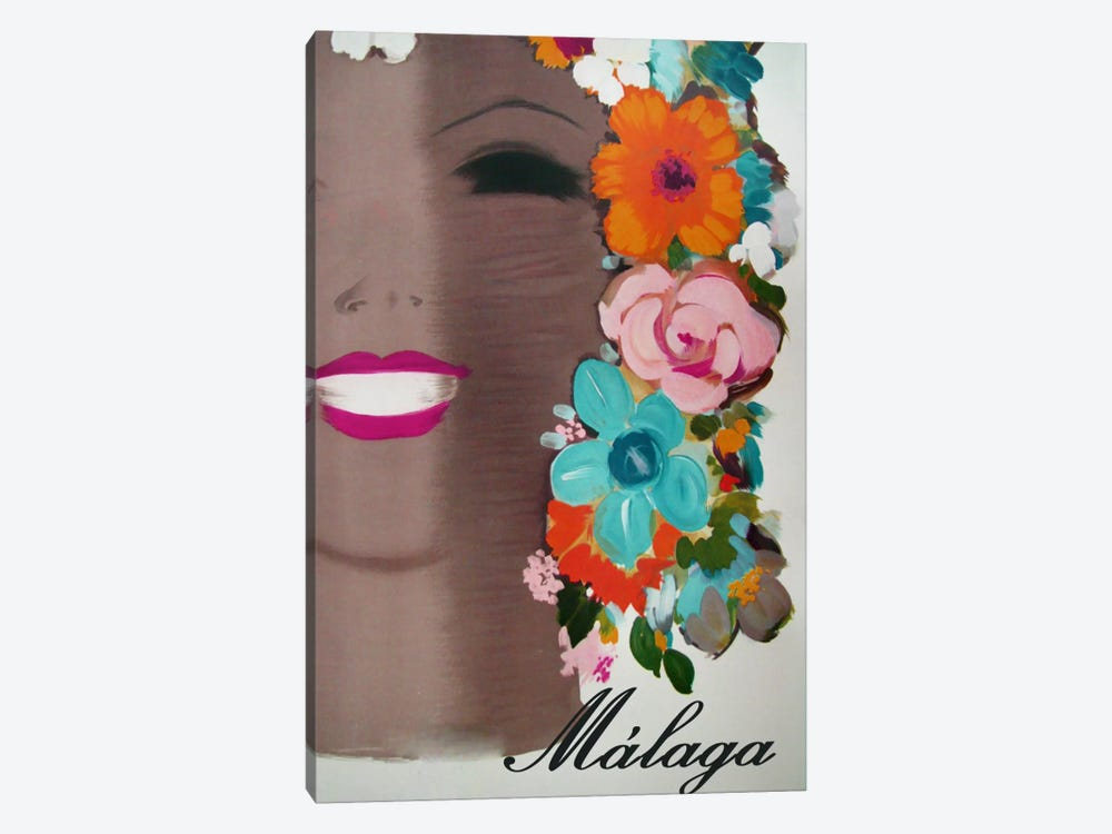 Malaga by Vintage Apple Collection 1-piece Canvas Art Print
