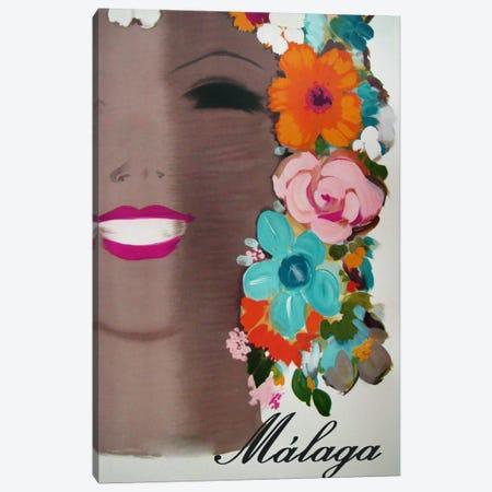 Malaga Canvas Print #VAC455} by Vintage Apple Collection Canvas Print