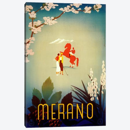 Merano Canvas Print #VAC457} by Vintage Apple Collection Canvas Print