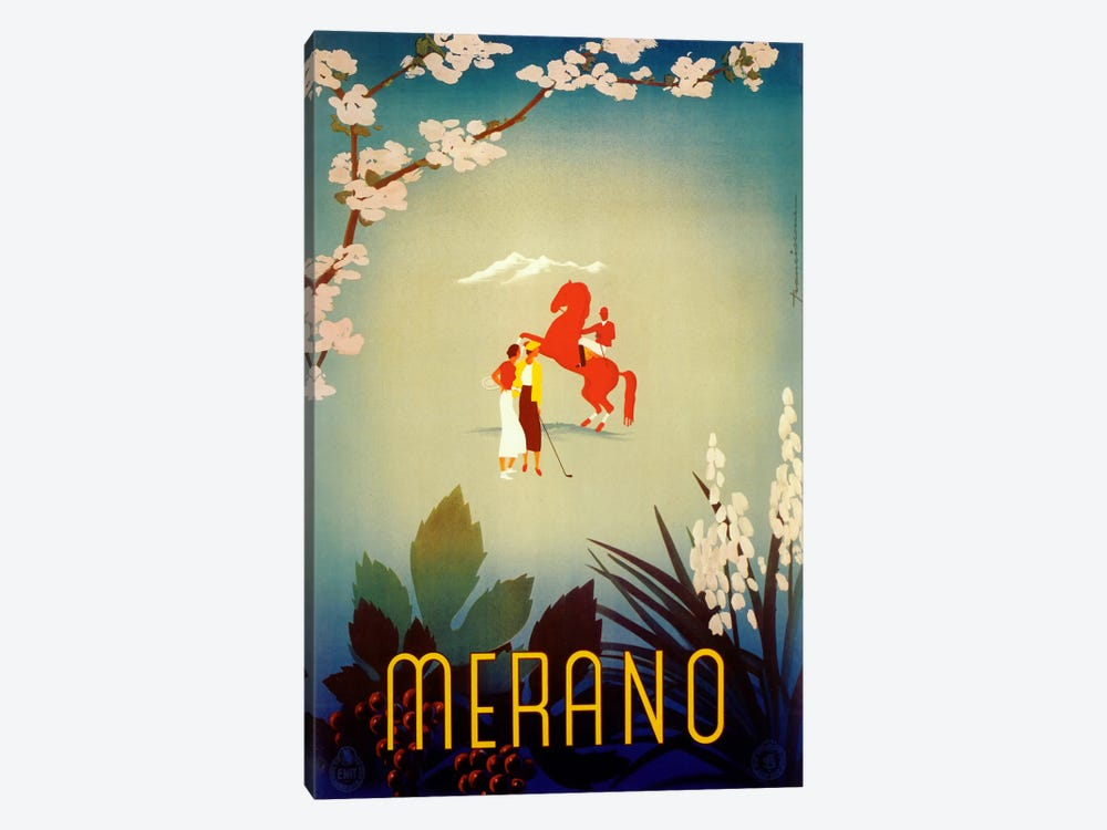 Merano by Vintage Apple Collection 1-piece Canvas Print