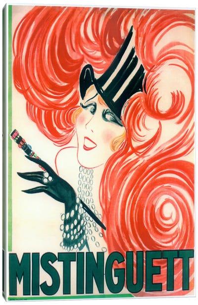 Mistinguett Redhead Cane Canvas Print #VAC461