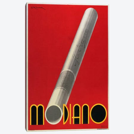 Modiano Cigs Red Italian Canvas Print #VAC462} by Vintage Apple Collection Canvas Print