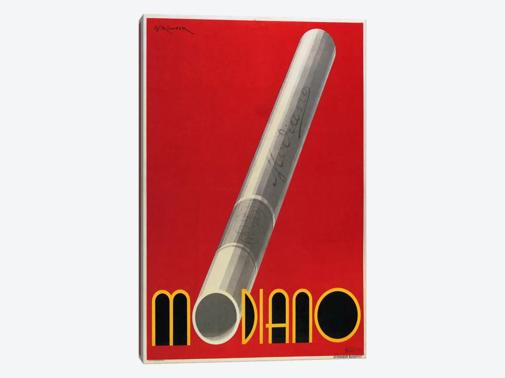 Modiano Cigs Red Italian by Vintage Apple Collection 1-piece Art Print