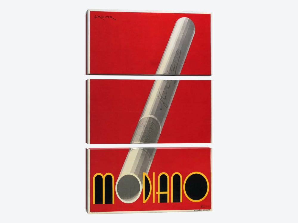 Modiano Cigs Red Italian by Vintage Apple Collection 3-piece Canvas Print