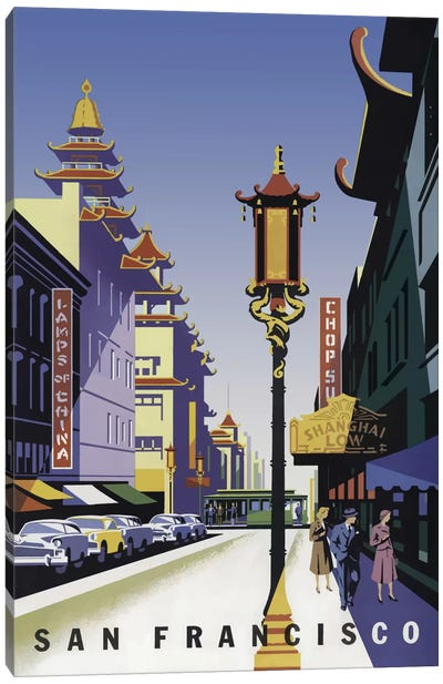 Sanfrancisco Chinatown Canvas Art Print