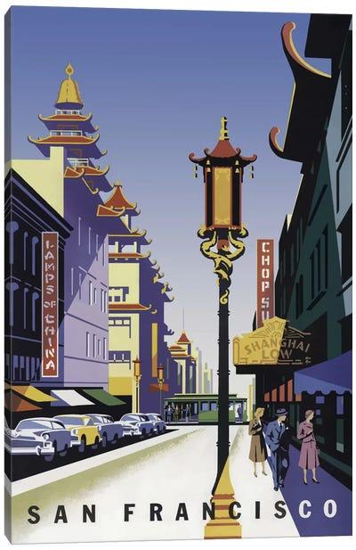 Sanfrancisco Chinatown Canvas Art Print