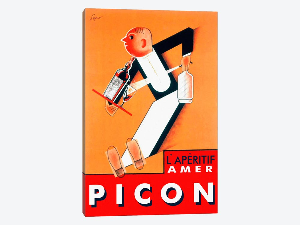 Amer Picon by Vintage Apple Collection 1-piece Canvas Art Print
