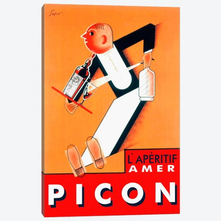 Amer Picon Canvas Print #VAC51} by Vintage Apple Collection Canvas Wall Art