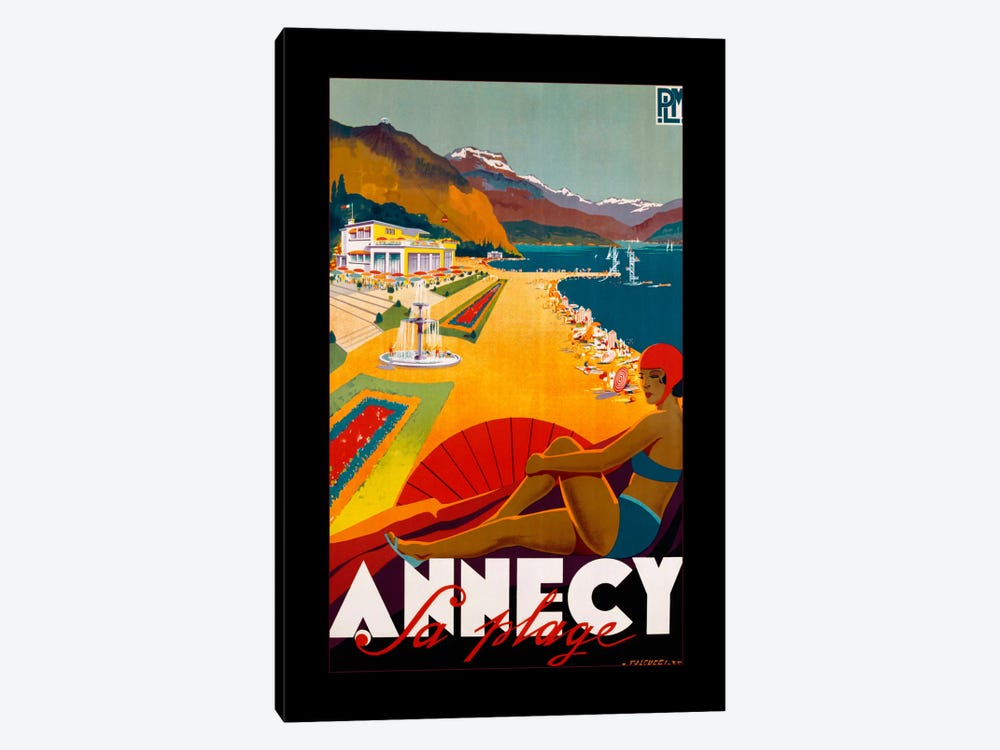Annecy by Vintage Apple Collection 1-piece Canvas Print