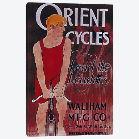 Bike XLII Canvas Print #VAC561} by Vintage Apple Collection Canvas Artwork