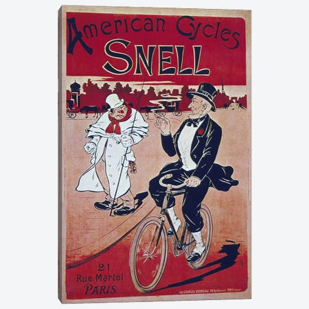 Bike LIII Canvas Print #VAC572} by Vintage Apple Collection Art Print