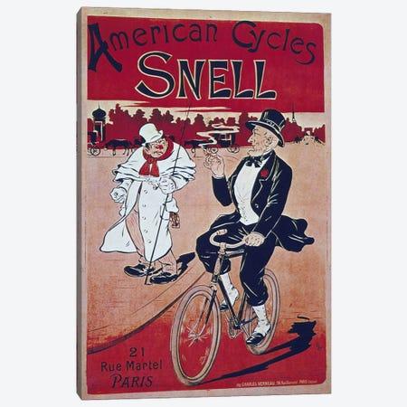 Bike LIII Canvas Print #VAC572} by Vintage Apple Collection Art Print