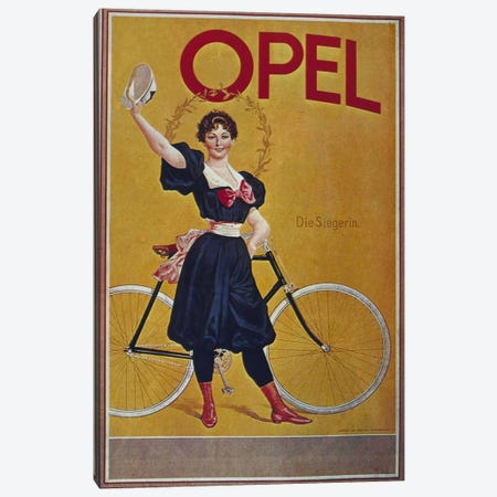 Bike LXI Canvas Print #VAC580} by Vintage Apple Collection Canvas Artwork