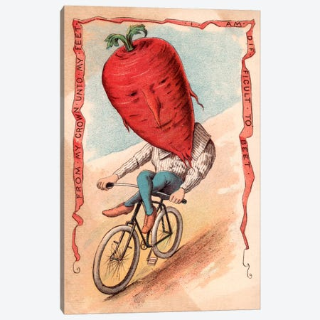 Bike Beet Canvas Print #VAC593} by Vintage Apple Collection Art Print
