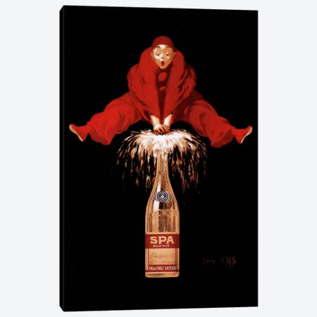Belgium Liquor Red Man Canvas Print #VAC60} by Vintage Apple Collection Art Print