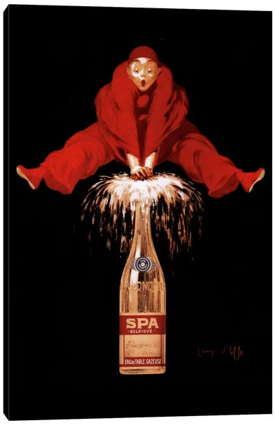 Belgium Liquor Red Man Canvas Print #VAC60