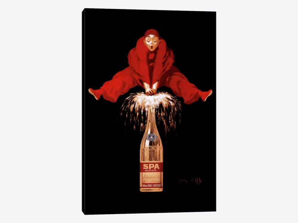 Belgium Liquor Red Man by Vintage Apple Collection 1-piece Canvas Art Print
