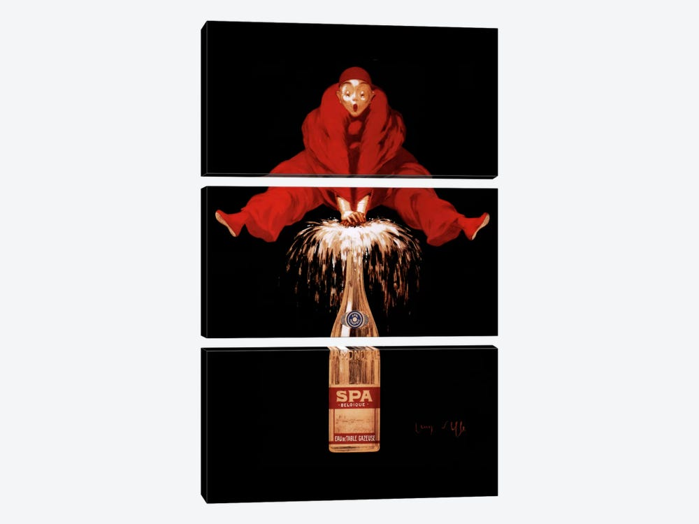 Belgium Liquor Red Man by Vintage Apple Collection 3-piece Canvas Art Print