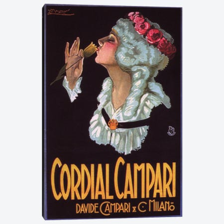 0.75 by 40 by 60-Inch iCanvasART 3-Piece Cordial Campari Liquer Vintage Poster Canvas Print by Marcello Dudovich