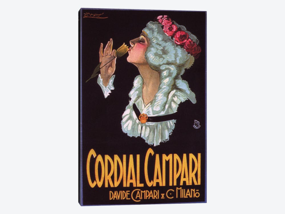 Cordial Campari #2 by Vintage Apple Collection 1-piece Canvas Artwork