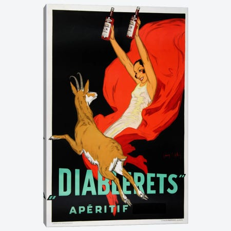 Diablerets Canvas Print #VAC616} by Vintage Apple Collection Art Print