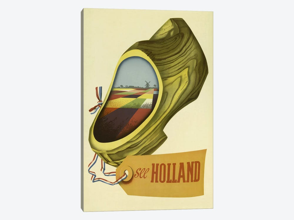 Holland by Vintage Apple Collection 1-piece Canvas Art Print