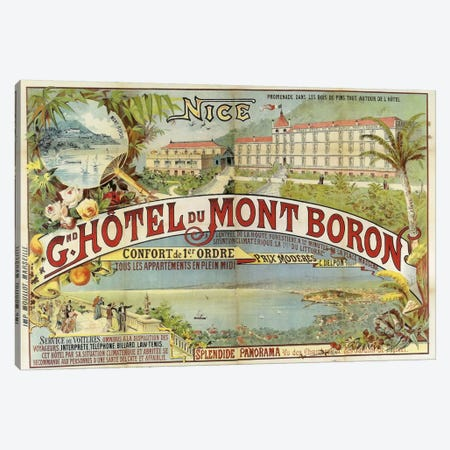 Hotel Mont Baron Canvas Print #VAC633} by Vintage Apple Collection Canvas Art