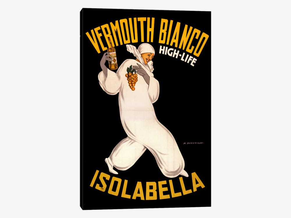 Isolabella Vermouth Bianco by Vintage Apple Collection 1-piece Canvas Artwork